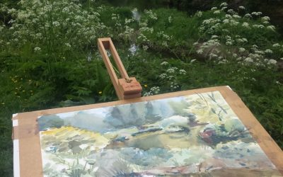 Plein-air painting in Courtown