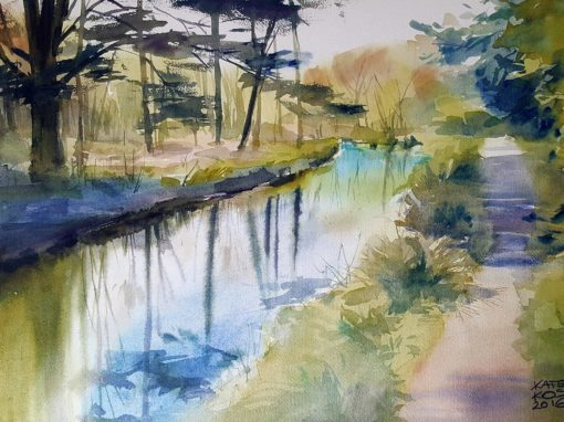 Landscape watercolors