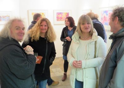 Waterside exhibition opening by Tony Robinson