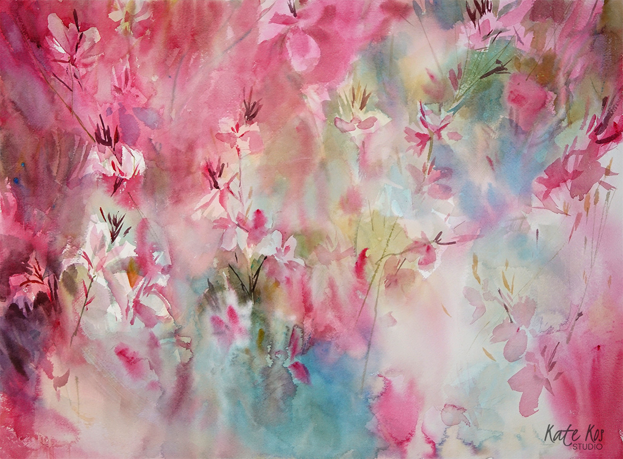 Gaura watercolor
