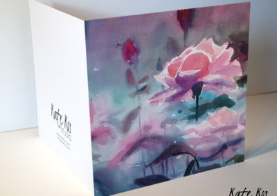 21x21cm The Rose by Kate Kos - opened
