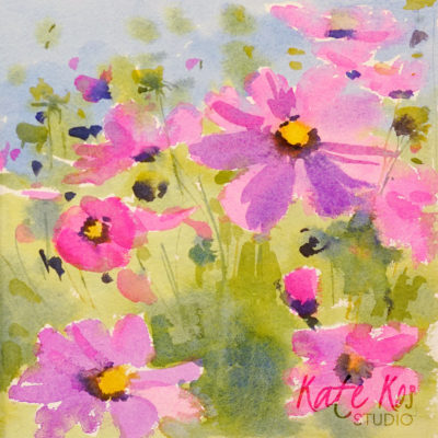 2018 art painting watercolor floral by Kate Kos - Daydream 4