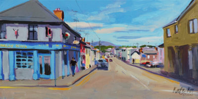 2019 art painting acrylic landscape Gorey town by Kate Kos - Pearse Street