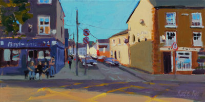 2019 art painting acrylic landscape Gorey town by Kate Kos - Thomas Street