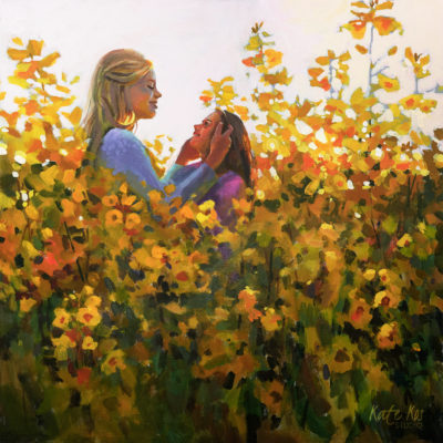 2019-art-painting-acrylic-floral-mother-and-daughter-by-Kate-Kos-Amore-dOro