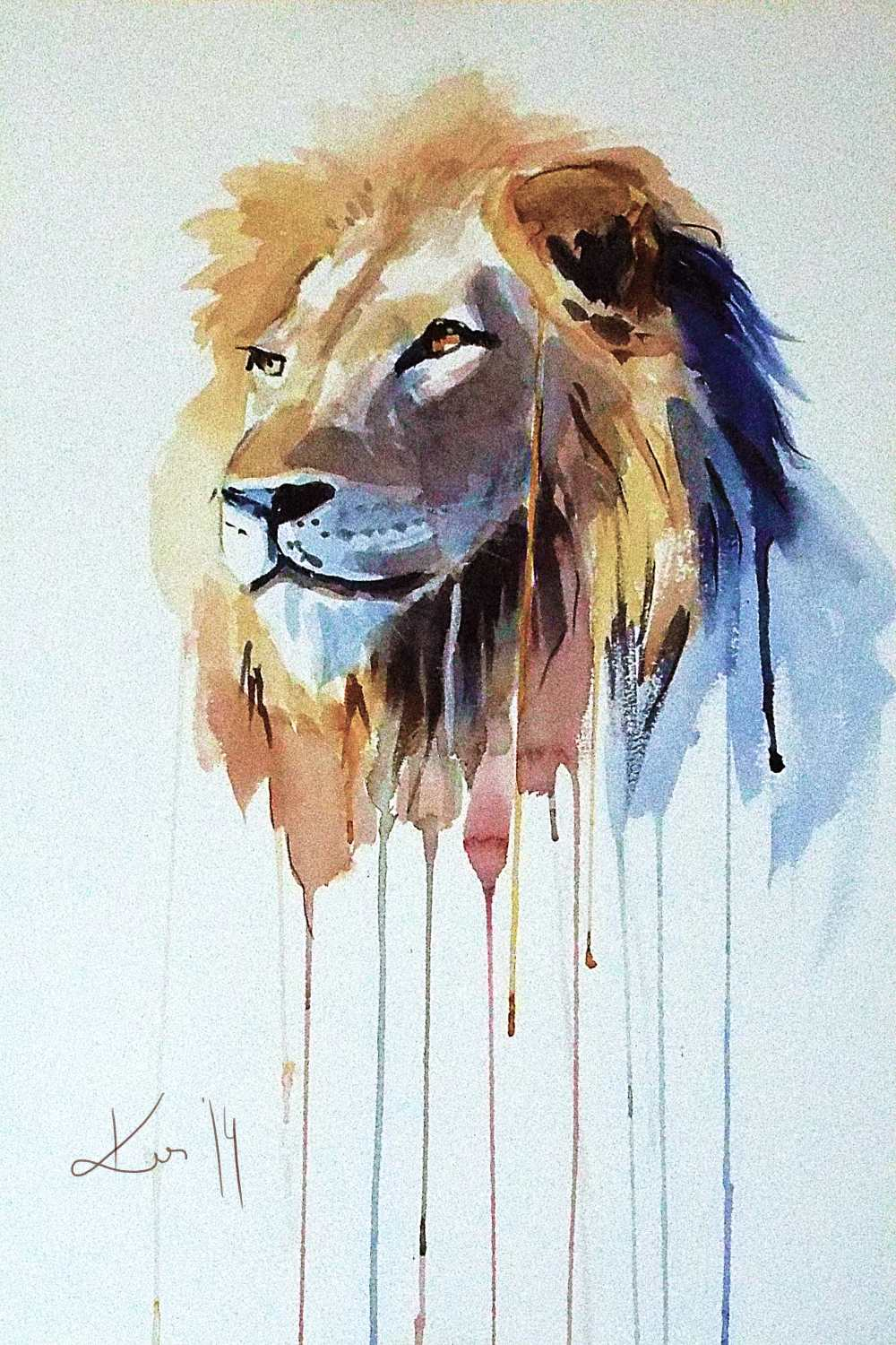 The Lion watercolor
