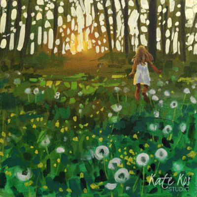 2020 art painting acrylic landscape meadow by Kate Kos - Nature's Child