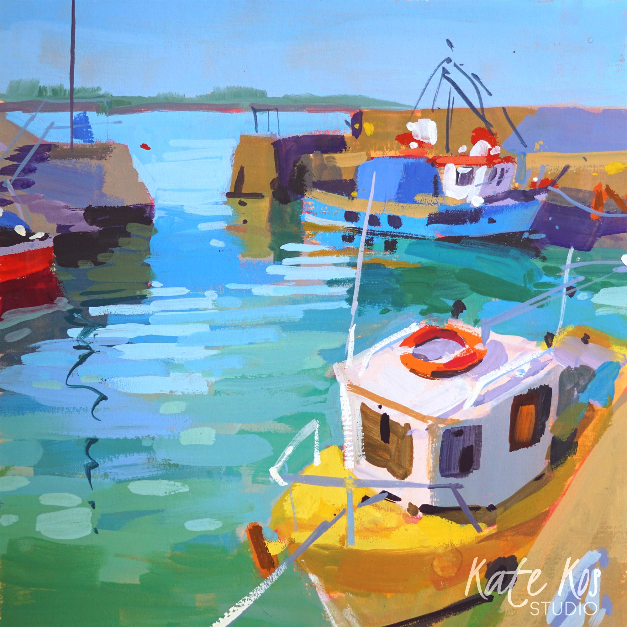 2021 art painting gouache seascape Fethard On Sea by Kate Kos - Square Away 5 .jpg